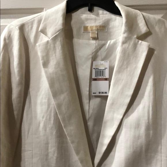 Michael Kors Jackets & Blazers - Michael Kors White Linen Blazer